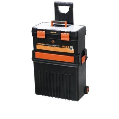 """Handy tools Húzható, többrészes műanyag szerszámláda 18"""" 460x280x635mm"""