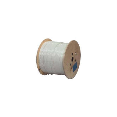 Koax kábel RG6 réz Trishield 100m-es tekercs, fehér