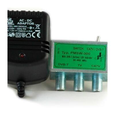 PMSW 300 DVB-T/CATV átkapcsoló+adapter