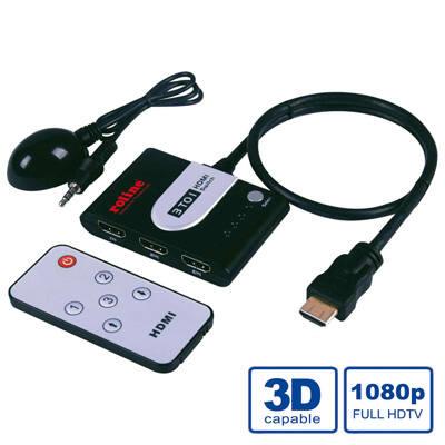 Roline HDMI Switch 3port.