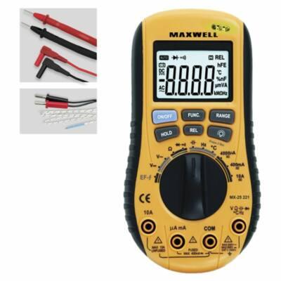 Maxwell Digitális multiméter automata méréshatár váltással