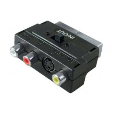 Scart - RCA adapter (irányváltós)