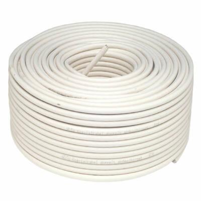 Koax kábel RG6 acél Dualshield 100m-es tekercs, fehér